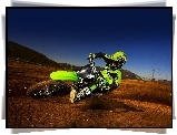 Zielone, Kawasaki KX250F Monster Energy