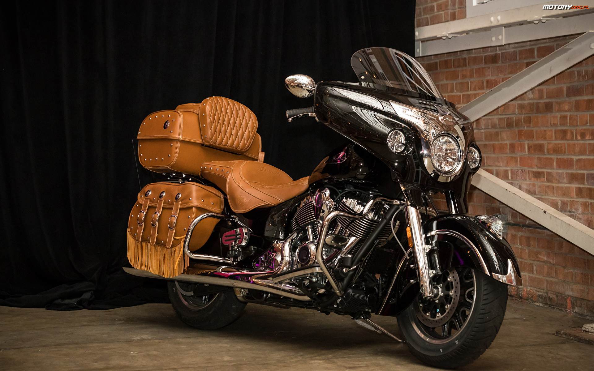 Roadmaster Classic, Kufer, Indian Motorcycle, Skórzany